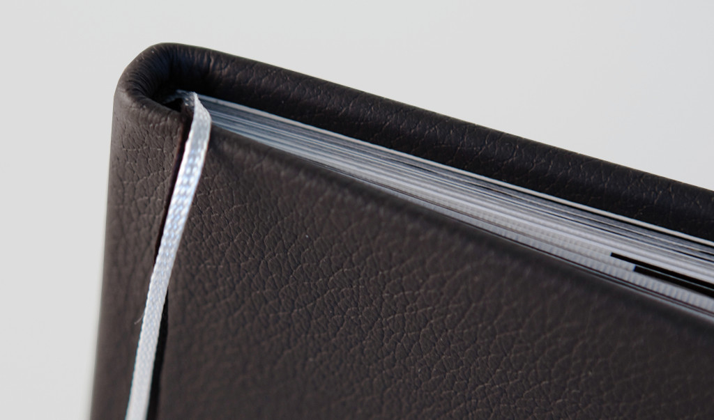 Classic Leather cover with bookmark ribbons